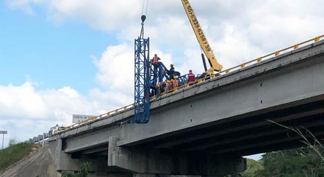 Izaje y sustitución de apoyos, autopista Tuxtla Gutiérrez – S.C. de las Casas y Arriaga-Ocozocoautla